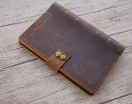 handmade mens leather journal
