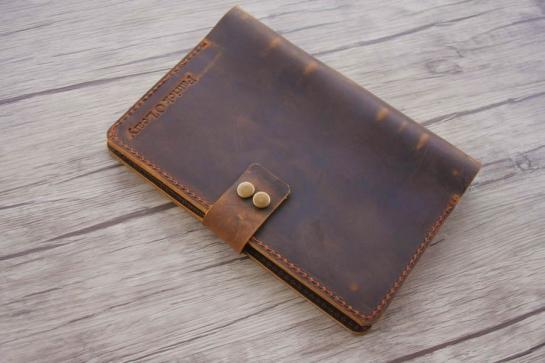handmade mens leather journal