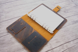 mens leather journal refillable