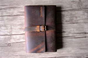 custom vintage brown leather notebooks
