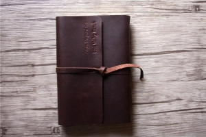 personalized leather bound notebook