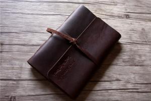 handmade italian leather bound notebook