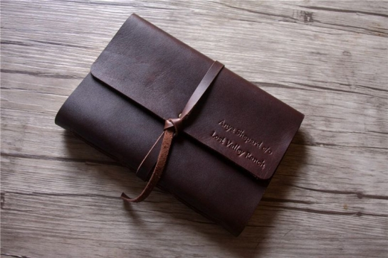 custom leather notebook mens