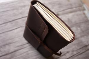 italian large leather notebook