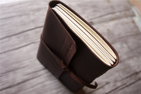 italian large leather notebook