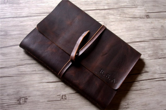 custom large leather bound notebook journal