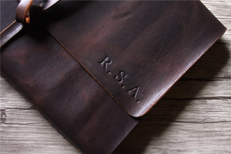 custom mens leather large journal