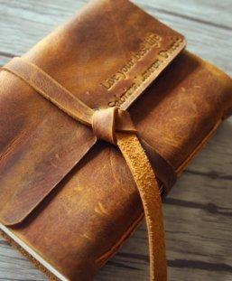 Italian leather bound journal