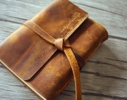 Italian leather bound journal