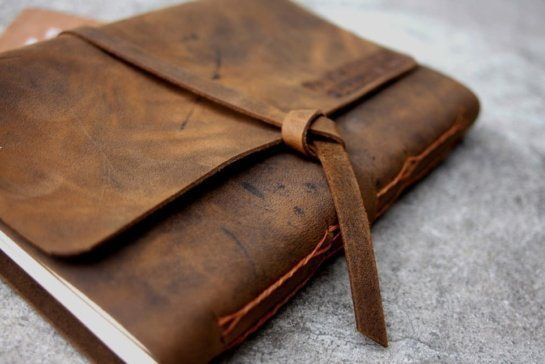 Personalized leather photo albums