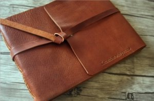 boy photo album italian leather made