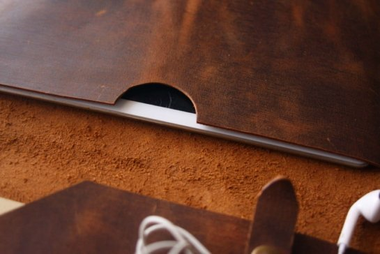 business custom embossed leather portfolio