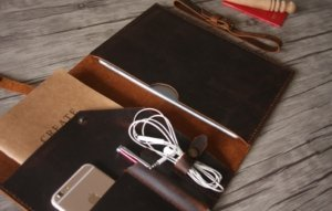 business leather portfolio personalized