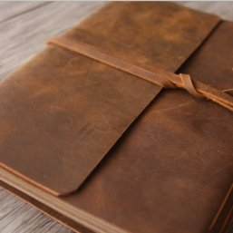 distressed leather journal for men