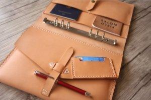 gifts leather portfolio binder