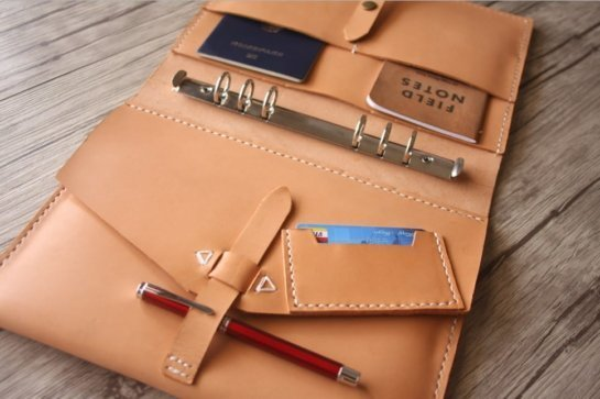 gifts leather portfolio binder