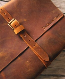 large leather notebook journal