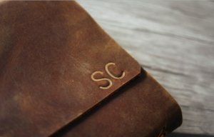 large personalized leather jurnal