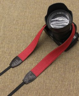 dslr camera strap red color