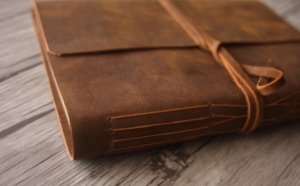 leather journal scrapbook