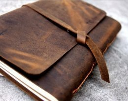 leather photo album book