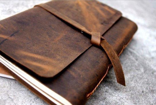 leather photo album book