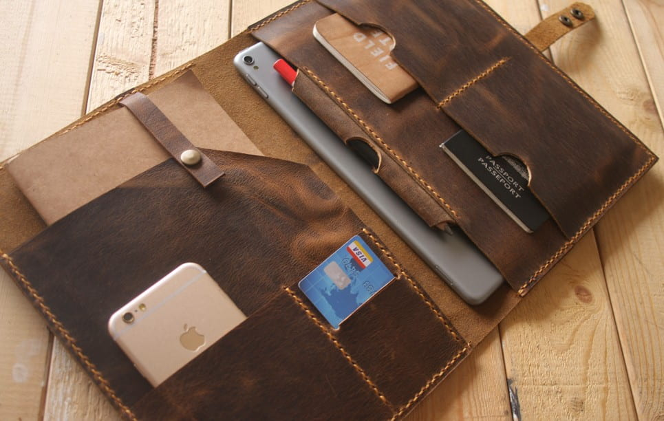 brand new a9740 b5bd3 Personalized leather portfolio handmade legal case