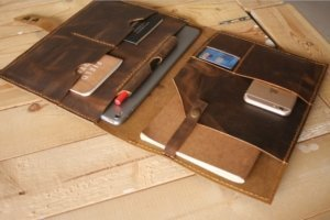 leather portfolios personalized name