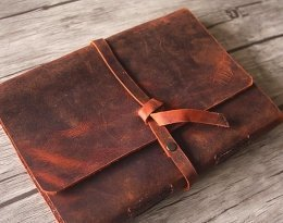 memory leather photo album