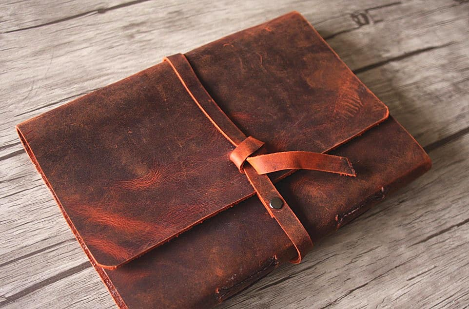 Leather Photo Albums Distressed Scrapbook Flixgifts