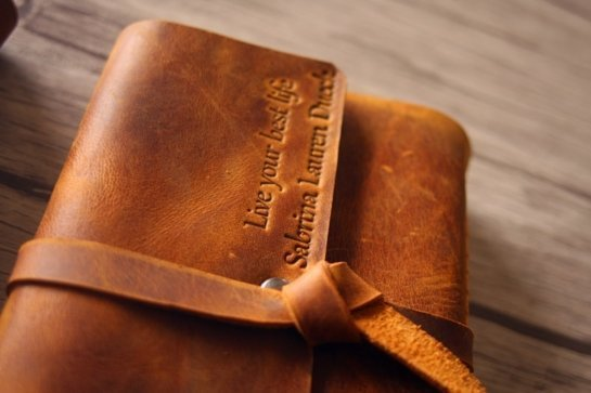 personalized italian leather journal