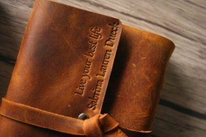 personalized italian leather journal book