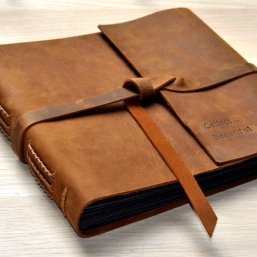 personalized leather albums