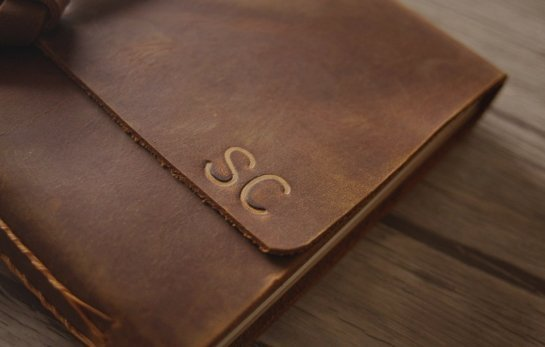 refillable leather bound journal