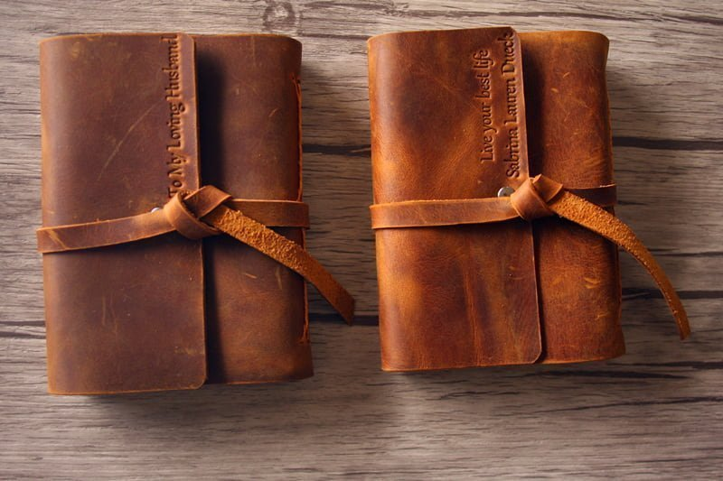 refillable flix italian leather journal flixgifts