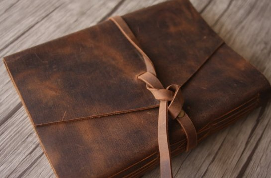 rustic leather journal personalized leather gifts
