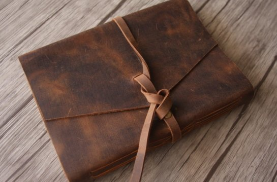 unique gifts leather journal