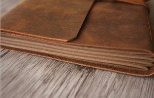 vintage leather journal mens