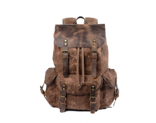leather women's backpack