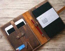 A4 custom leather portfolio