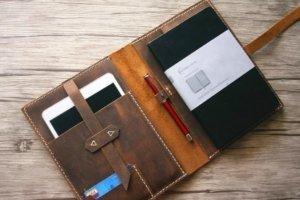 A4 custom leather portfolio