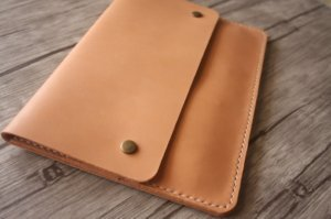 Italian leather pad portfolio