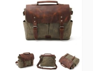 army green canvas messenger bags