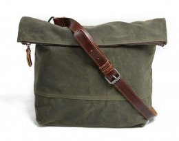 army green waxed canvas messenger bags