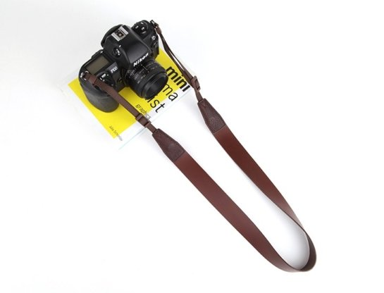brown leather camera straps