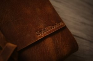 brown leather journals