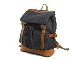 canvas leather women's backpack bags