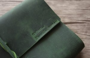 classic green leather journal