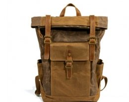 coffee school canvas leather backpack purse