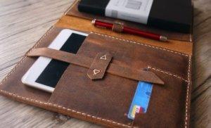 custom small leather portfolios